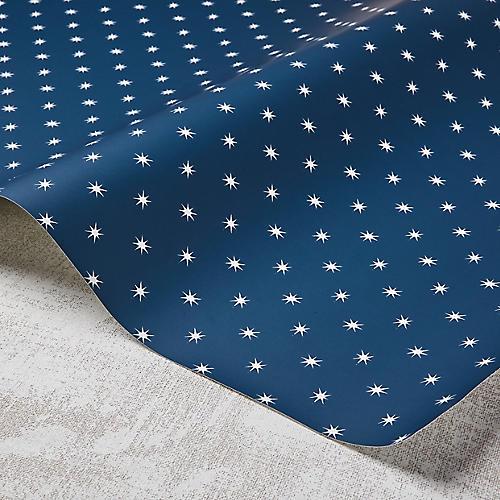 Stars Wallpaper, Navy/White