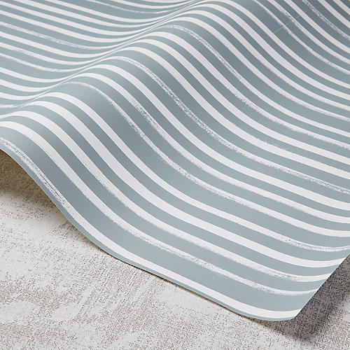 Stripes Wallpaper, Gray/White