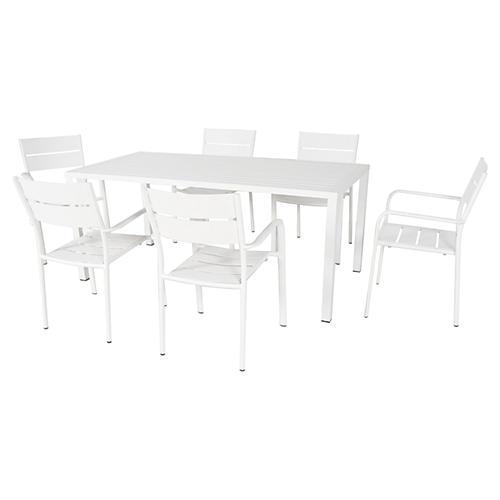Ricci 7-Pc Dining Set, White