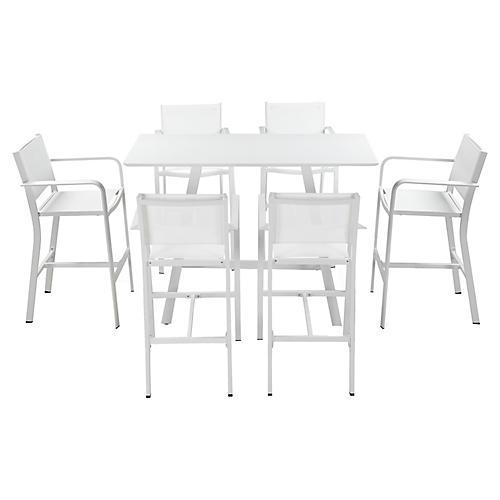 Asst. of 7 Morales Bar Set, White