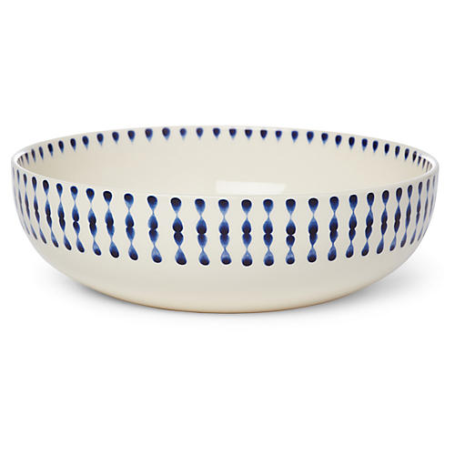 Cua Dai Serving Bowl, Navy/Ivory