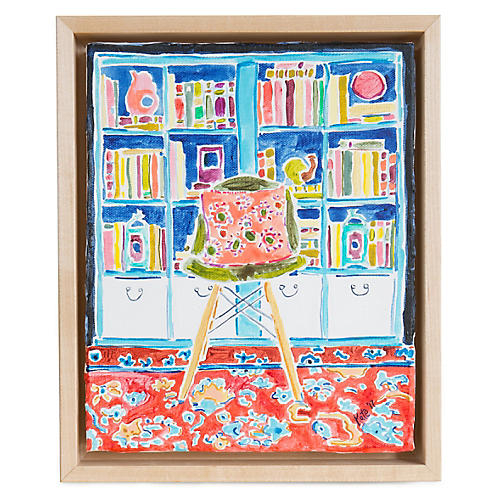 Kate Lewis, Bookshelf with Chair