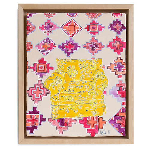 Kate Lewis, Yellow Chair with Pattern