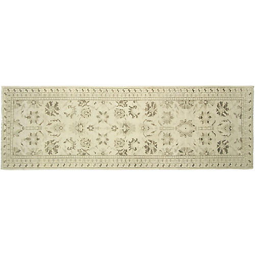 "3'3""x9'8"" Sultanabad Runner, Light Green"