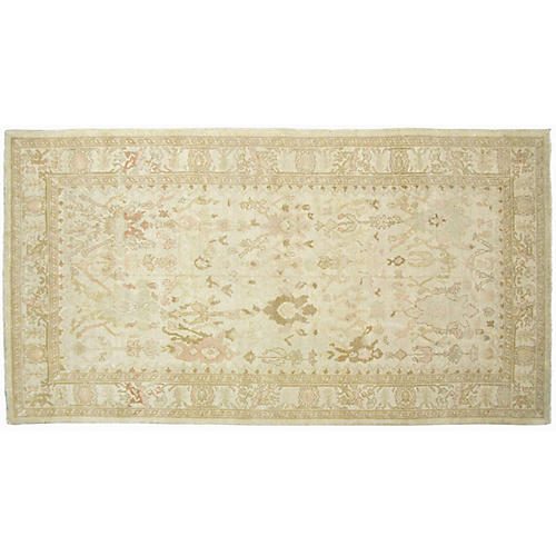"""5'10""""x10'9"""" Sultanabad Rug, Ivory/Copper"""