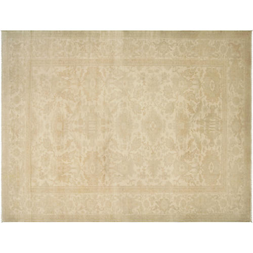 """10'1""""x13'3"""" Sultanabad Rug, Ivory/Gray"""