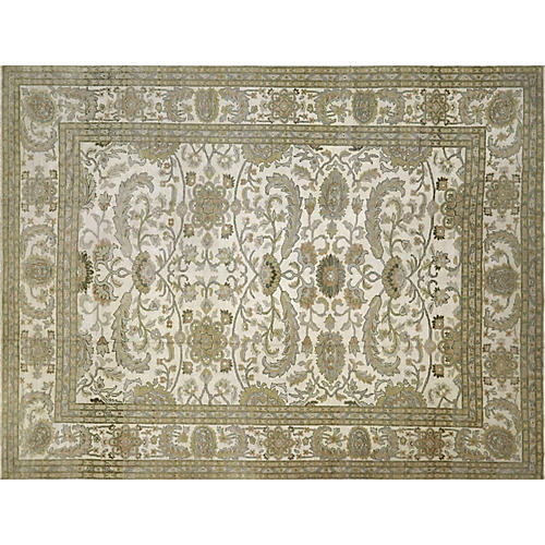 """10'1""""x13'2"""" Sultanabad Rug, Green/Multi"""