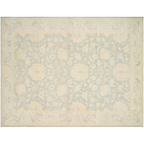 "9'x11'11"" Sultanabad Rug, Light Blue"