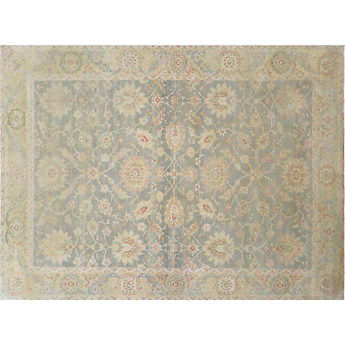 "10'x13'6"" Sultanabad Rug, Blue/Multi"