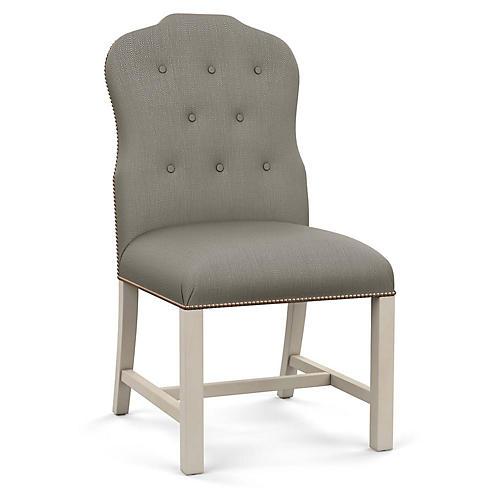 Jack Side Chair, Gray Diamond Linen