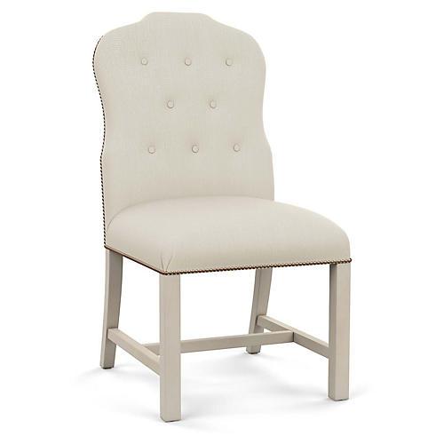 Jack Side Chair, Natural Diamond Linen