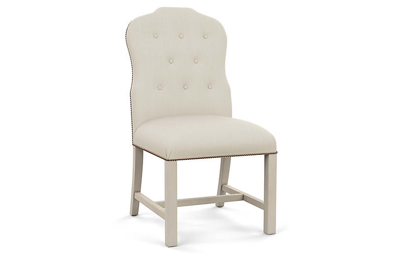 Jack Side Chair, Natural Diamond Linen
