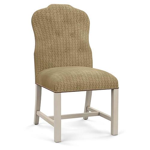 Jack Side Chair, Hexagonal Beige