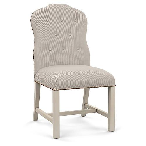 Jack Side Chair, Gray Stripe