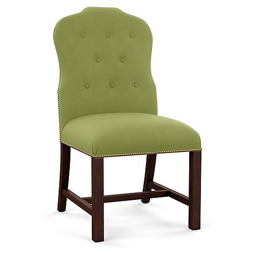 Jack Side Chair, Green Linen