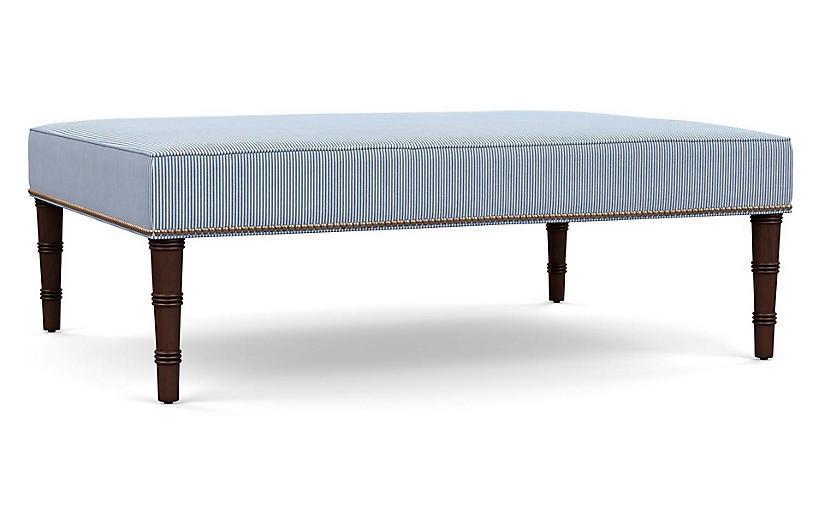 Ling Ottoman, Blue Stripe