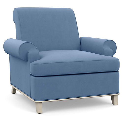 Bunny Club Chair, Cornflower Linen
