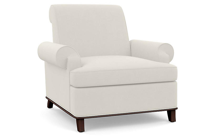 Bunny Club Chair, Natural Linen