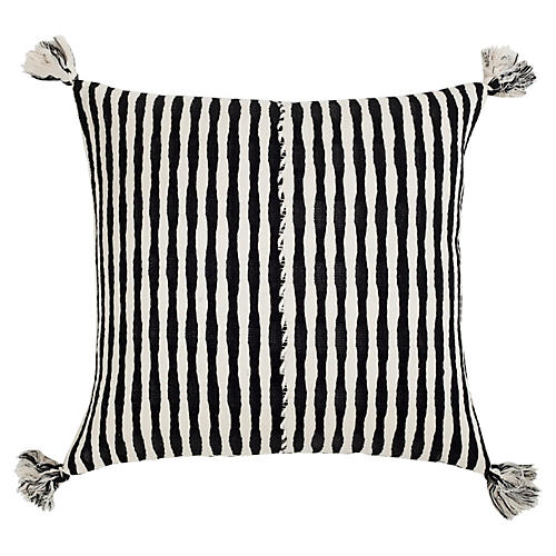 Antigua 20x20 Pillow, Black/White