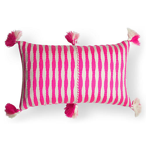 Antigua 12x20 Pillow, Neon Pink