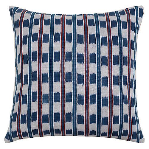 Santiago Jaspe 20x20 Pillow, Indigo/Multi
