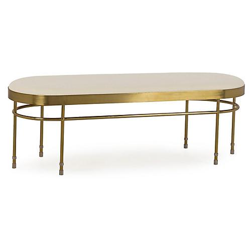Lozenge Bench, Ivory