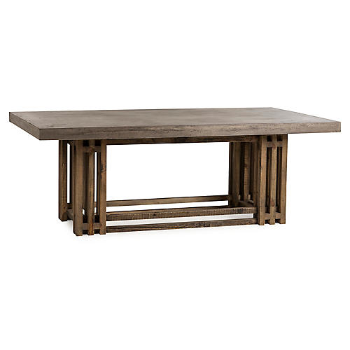 Conrad Dining Table, Gray