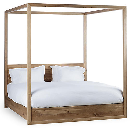 Otis Canopy Bed, Natural