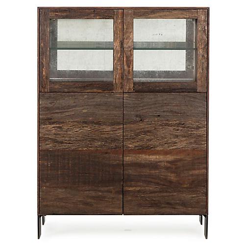 Cardosa Bar Cabinet, Natural/White