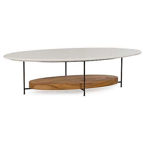 Olivia Coffee Table, White