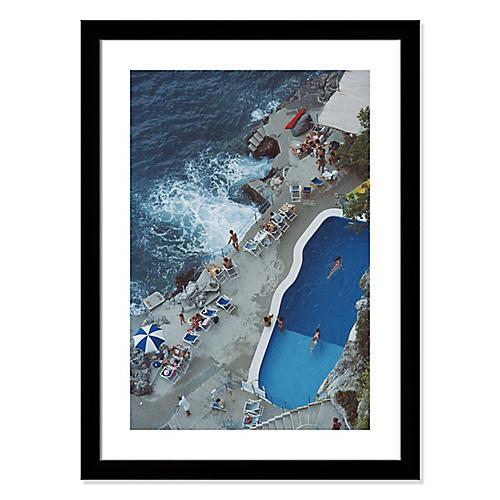 Slim Aarons, Pool on Amalfi Coast