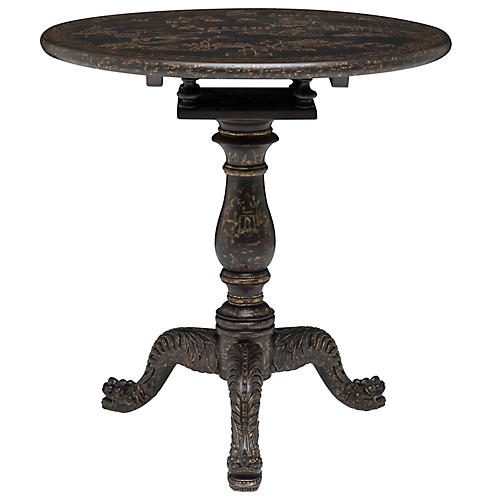 Chinoiserie Side Table, Black
