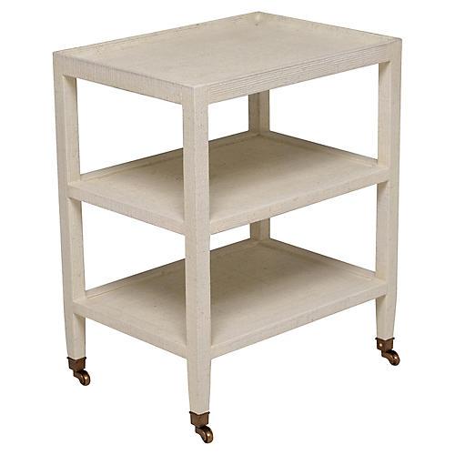 Fairfax Side Table, Ivory