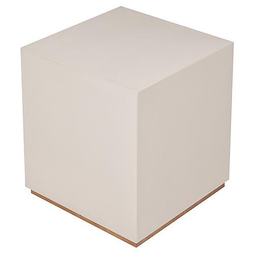 Sunset Side Table, Ivory