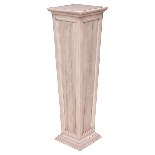"52"" Larrabee Tapered Pedestal, Weathered Oak"