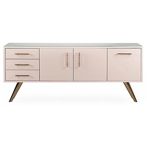 Diaz Dresser, Pink/Gold