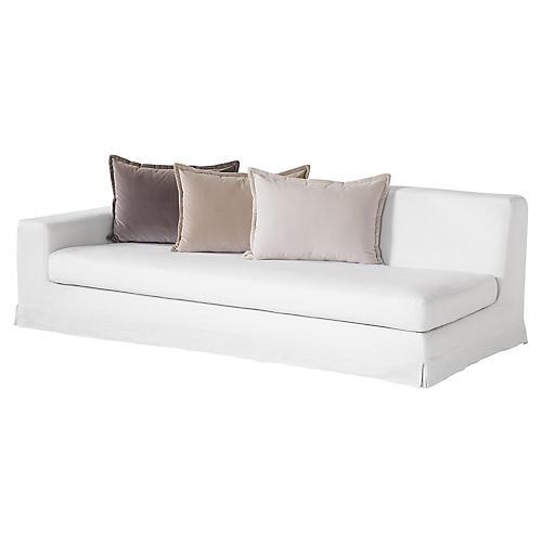 Jackson Left-Arm Facing Sofa, Ivory Linen