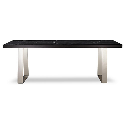 Jopling Dining Table, Black/Silver
