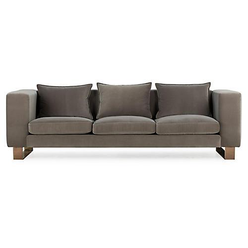 Monet Sofa, Mink Velvet