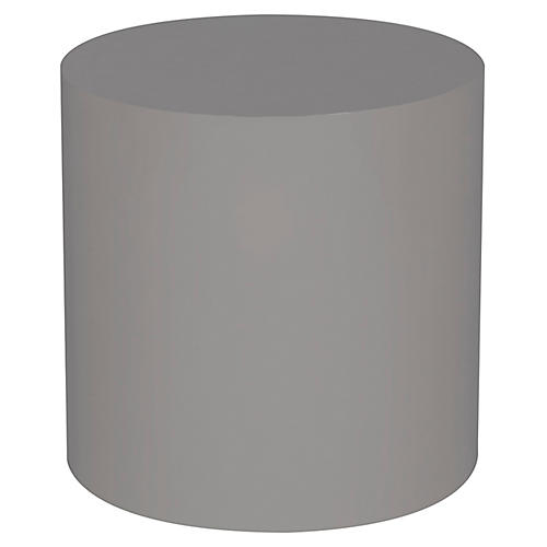 Morgan Round Side Table, Gray
