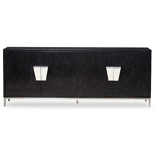 Shield Sideboard, Black/Silver