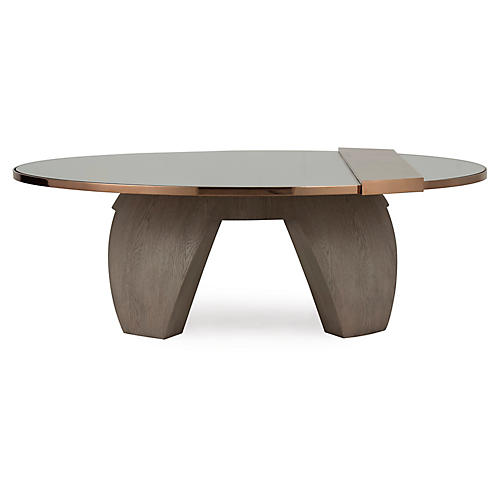 Titian Coffee Table, Rose Gold/Brown