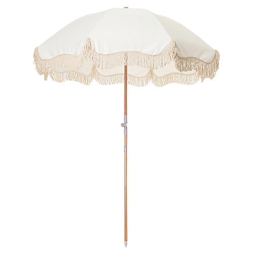 Shore Beach Umbrella, Antiqued White