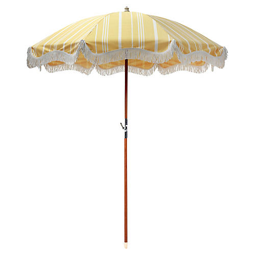 Waterfront Beach Umbrella, Vintage Yellow