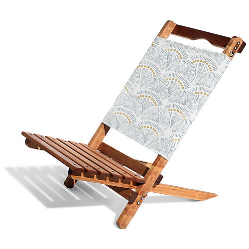 Scallop 2-pc Folding Chair, Blue