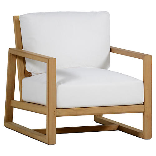 Avondale Club Chair, White