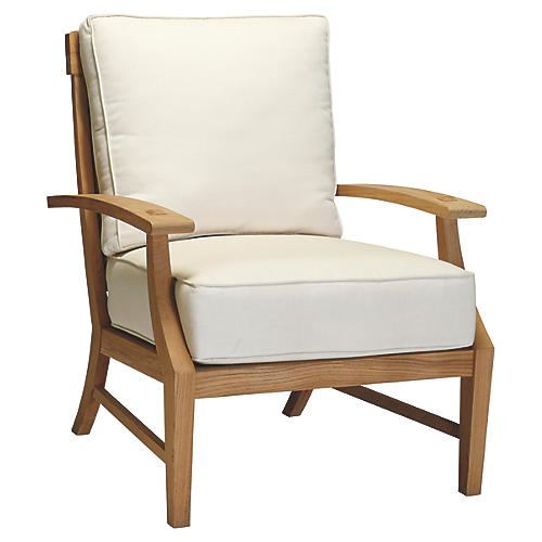 Croquet Club Chair, White