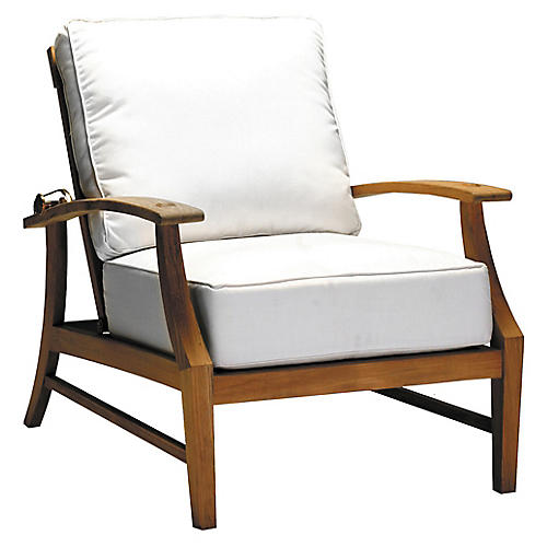 Croquet Recliner, White