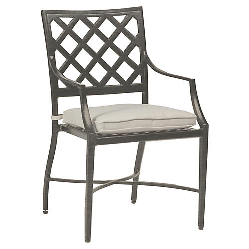 Lattice Armchair, Gray