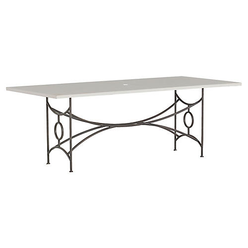 Trestle Dining Table, White